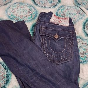 True religion distressed jeans 34
